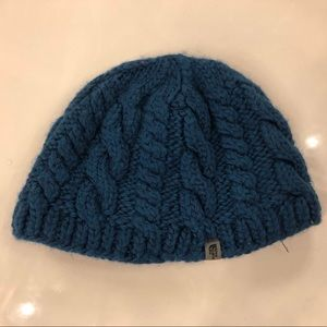 North Face beanies turquoise and brown